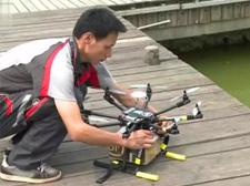 中国邮政开始用无人机农村派件