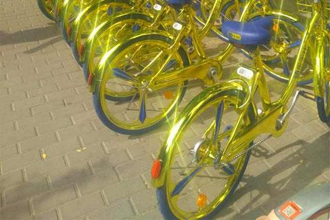 一块钱土豪!海尔推出金色共享单车,真是亮瞎