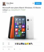 微软的邮件表示本月发布Win10 Mobile