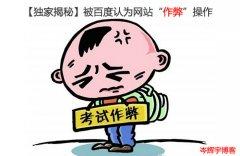 """【独家揭秘】被百度认为网站""""作弊""""操作"""