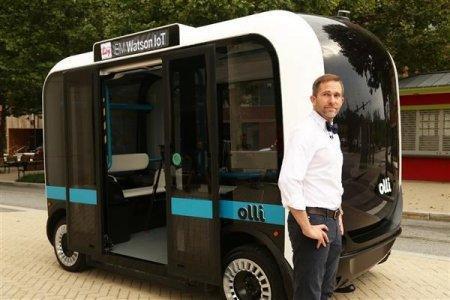 全球首辆3D打印公交车 自动驾驶 3D意造网