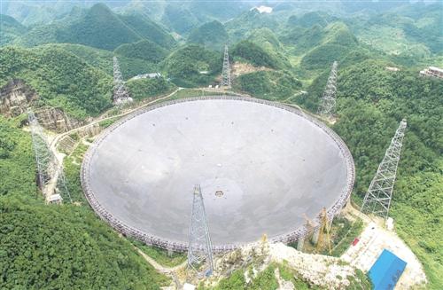 世界上最大的望远镜完工:世界最大单口径射电望远镜FAST主体完工