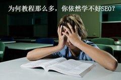 为何教程那么多,你依然学不好SEO?