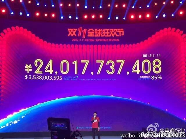2016年淘宝双十一成交金额会是多少?看到数据马云都楞了!