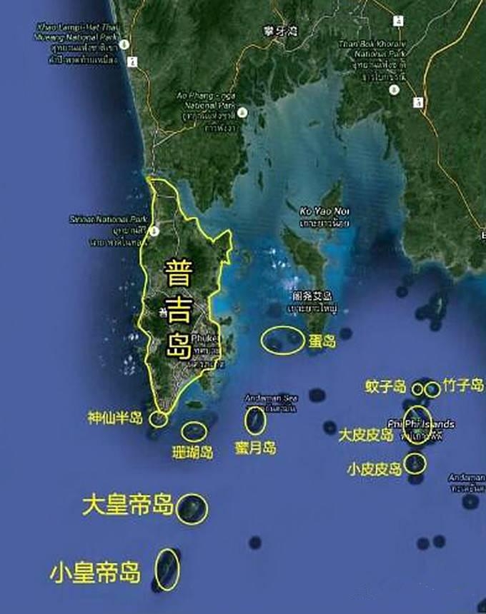 普吉岛跳岛一日游,选岛选船全攻略