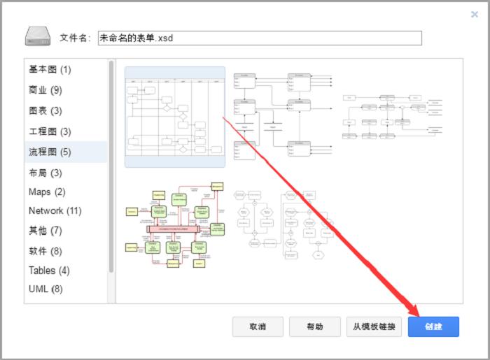 在流程图制作软件中创建模板的方法