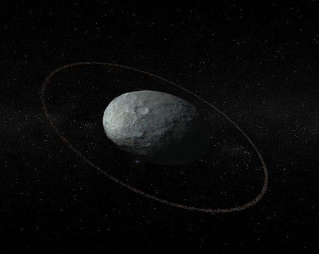 妊神星发现拥有光环:发生撞击事件的线索