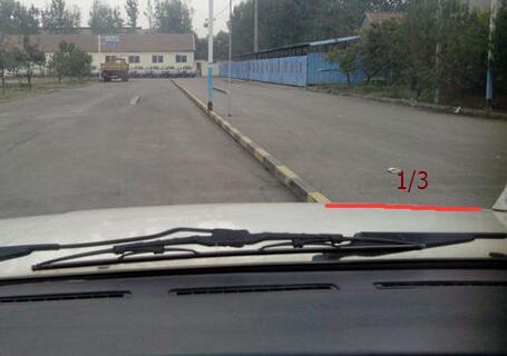 靠边停车30公分对点技巧
