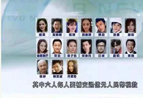 娱乐圈再爆十七名艺人被约谈名单