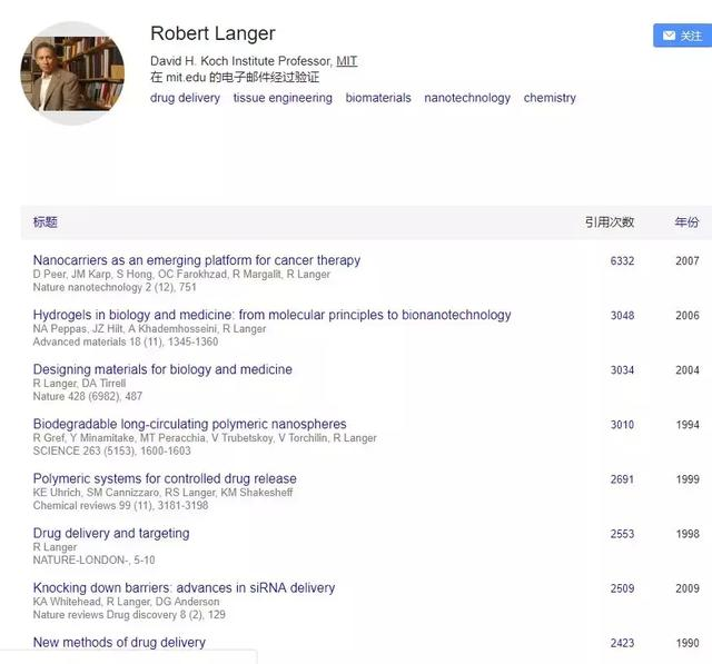 利用谷歌学术 3 分钟查到某研究领域大佬的全部文献
