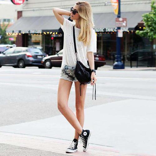 帆布鞋的六种搭法,每种都吸睛,你爱的样子它都有
