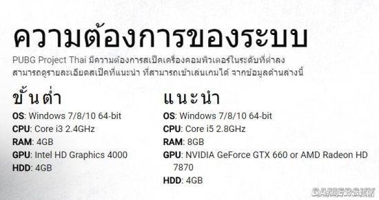 低配版《绝地求生》泰国开测:只需i3 核显HD4000